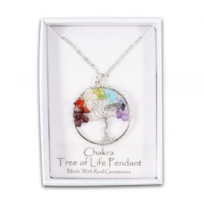 Chakra Tree of Life Pendant with Chain (Boxed)